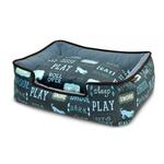 View Image 1 of P.L.A.Y. Dog's Life Lounge Dog Bed - Sofa Blue