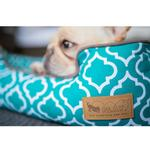 View Image 3 of P.L.A.Y. Moroccan Lounge Dog Bed - Teal