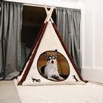 View Image 2 of P.L.A.Y. Pet Teepee - Classic Beige