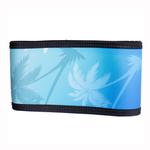 View Image 4 of Playa Pup Dog Belly Band - Palm Tree Blue