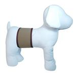 View Image 2 of Playa Pup Dog Belly Band - Dark Brown