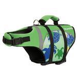 View Image 3 of Playa Pup Dog Lifejacket - Paradise Green Tuga