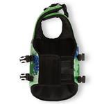 View Image 5 of Playa Pup Dog Lifejacket - Paradise Green Tuga