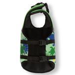 View Image 4 of Playa Pup Dog Lifejacket - Paradise Green Tuga