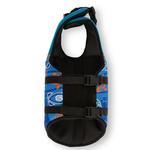 View Image 4 of Playa Pup Dog Lifejacket - Tribal Shark Night Blue
