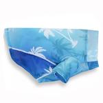 View Image 1 of Playa Pup Sun Protection Dog Shirt - Palm Tree Blue