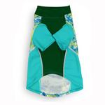 View Image 2 of Playa Pup Sun Protection Dog Shirt - Tropical Treasure Green