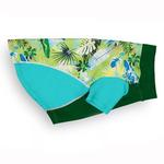 View Image 1 of Playa Pup Sun Protection Dog Shirt - Tropical Treasure Green