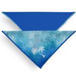 View Image 1 of Playa Pup UPF50+ Reversible Dog Bandana - Palm Tree Blue/Royal Blue