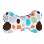 View Image 1 of Plush Bone Dog Toy - Fall Party Dots