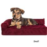 View Image 4 of FurHaven Plush & Velvet Deluxe Chaise Lounge Orthopedic Sofa-Style Dog Bed - Merlot Red