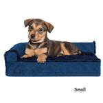 View Image 1 of FurHaven Plush & Velvet Deluxe Chaise Lounge Orthopedic Sofa-Style Dog Bed - Deep Sapphire
