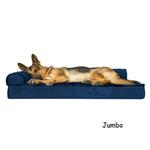 View Image 4 of FurHaven Plush & Velvet Deluxe Chaise Lounge Orthopedic Sofa-Style Dog Bed - Deep Sapphire