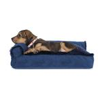 View Image 1 of FurHaven Plush & Velvet Deluxe Chaise Lounge Pillow Sofa-Style Dog Bed - Deep Sapphire