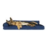 View Image 3 of FurHaven Plush & Velvet Deluxe Chaise Lounge Pillow Sofa-Style Dog Bed - Deep Sapphire