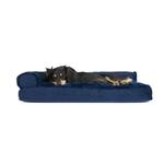 View Image 2 of FurHaven Plush & Velvet Deluxe Chaise Lounge Pillow Sofa-Style Dog Bed - Deep Sapphire