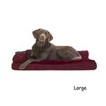 View Image 3 of FurHaven Plush & Velvet Deluxe Chaise Lounge Pillow Sofa-Style Dog Bed - Merlot Red