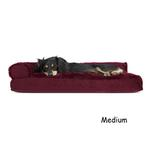 View Image 2 of FurHaven Plush & Velvet Deluxe Chaise Lounge Pillow Sofa-Style Dog Bed - Merlot Red