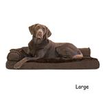 View Image 3 of FurHaven Plush & Velvet Deluxe Chaise Lounge Pillow Sofa-Style Dog Bed - Sable Brown