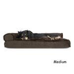 View Image 2 of FurHaven Plush & Velvet Deluxe Chaise Lounge Pillow Sofa-Style Dog Bed - Sable Brown