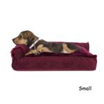 View Image 1 of FurHaven Plush & Velvet Deluxe Chaise Lounge Pillow Sofa-Style Dog Bed - Merlot Red