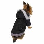 View Image 4 of Pocket Dog Parka by Dogo - Black
