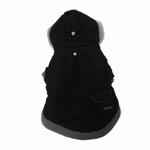 View Image 1 of Pocket Dog Parka by Dogo - Black