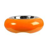 View Image 1 of The Pod Bowl Non-Slip Dog Bowl by Hing - Orange