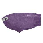 View Image 1 of Polaris Reflective Dog Sweater - Plum Purple