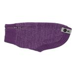 View Image 1 of Polaris Reflective Dog Sweater - Plum Purple