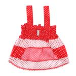 View Image 3 of Polka Dot Dog Sundress by Klippo - Red and White