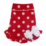 View Image 1 of Polka Dot Holiday Pullover Dog Dress - Red and White