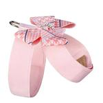 View Image 2 of Peaches & Cream Glen Houndstooth Nouveau Bow Tinkie Dog Harness by Susan Lanci - Puppy Pink