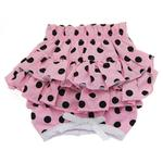 View Image 1 of Polka Dot Ruffles Dog Panties by Doggie Design - Pink and Black