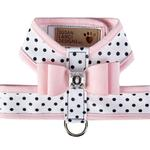 View Image 1 of Polka Dot Tinkie Dog Harness with Big Bow and Trim by Susan Lanci - Puppy Pink
