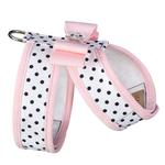 View Image 2 of Polka Dot Tinkie Dog Harness with Big Bow and Trim by Susan Lanci - Puppy Pink