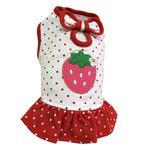 View Image 3 of Polka Dots Strawberry Dog Dress by Klippo