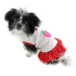View Image 2 of Polka Dots Strawberry Dog Dress by Klippo