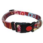 View Image 1 of Pop Circle Dog Collar - Rust