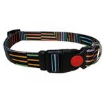 View Image 1 of Pop Stripe Dog Collar - Black