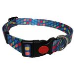 View Image 1 of Pop Square Dog Collar - Blue