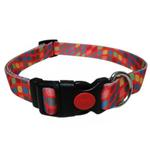 View Image 1 of Pop Square Dog Collar - Orange
