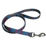View Image 1 of Pop Stripe 5' Dog Leash - Blue