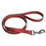View Image 1 of Pop Stripe 5' Dog Leash - Orange