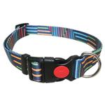 View Image 1 of Pop Stripe Dog Collar - Blue