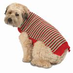 View Image 1 of Popper's Dog Sweater - Holiday Red
