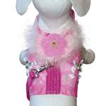 View Image 1 of Posh Princess Dog Harness Vest with Leash by Cha-Cha Couture - Pink