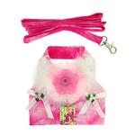 View Image 3 of Posh Princess Dog Harness Vest with Leash by Cha-Cha Couture - Pink