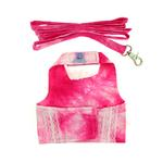 View Image 2 of Posh Princess Dog Harness Vest with Leash by Cha-Cha Couture - Pink