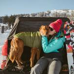 View Image 4 of Powder Hound Dog Jacket by RuffWear - Forest Green